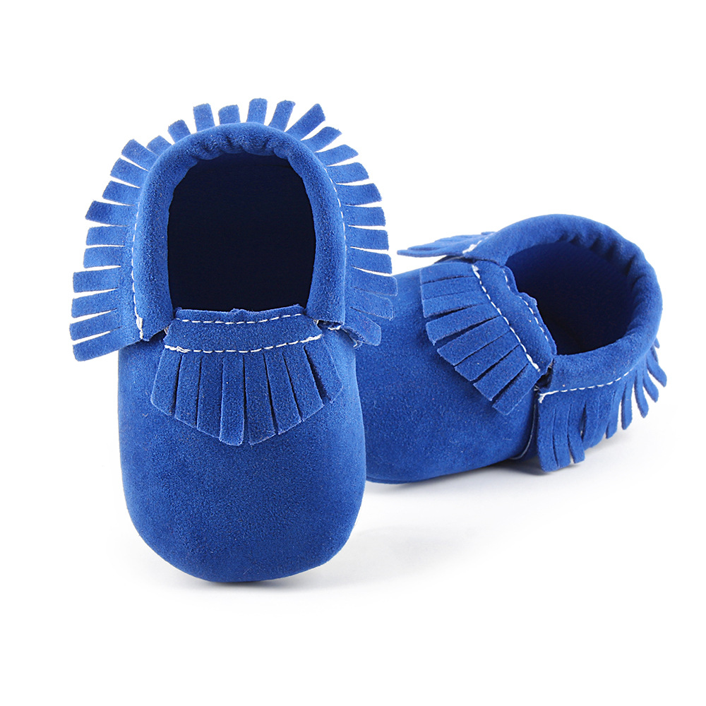 Baby Shoes Cotton Tassel Soft and Breathable Newborn Infant Toddler Shoes Retro Fringe Sneakers Soft Bottomed Anti-slip JR127