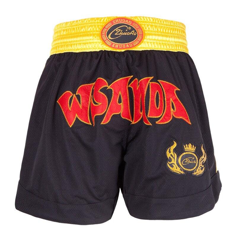 Boxing Shorts for Men Women Muay Thai Sanda Martial Arts Fighting Satin L