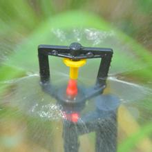 10PCS 360 Degrees Rotary Micro Nozzle Refraction Micro Spray Irrigation Pipe Adapters Inverted Nozzles Atomizing Parts