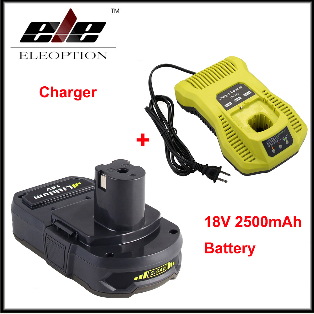 US $68 25 22% OFF|18V 2500mAh Li ion Replacement Battery For Ryobi RB18L25  One Plus for P103 P104 P105 P108 with P117 12 18V Charger-in Replacement