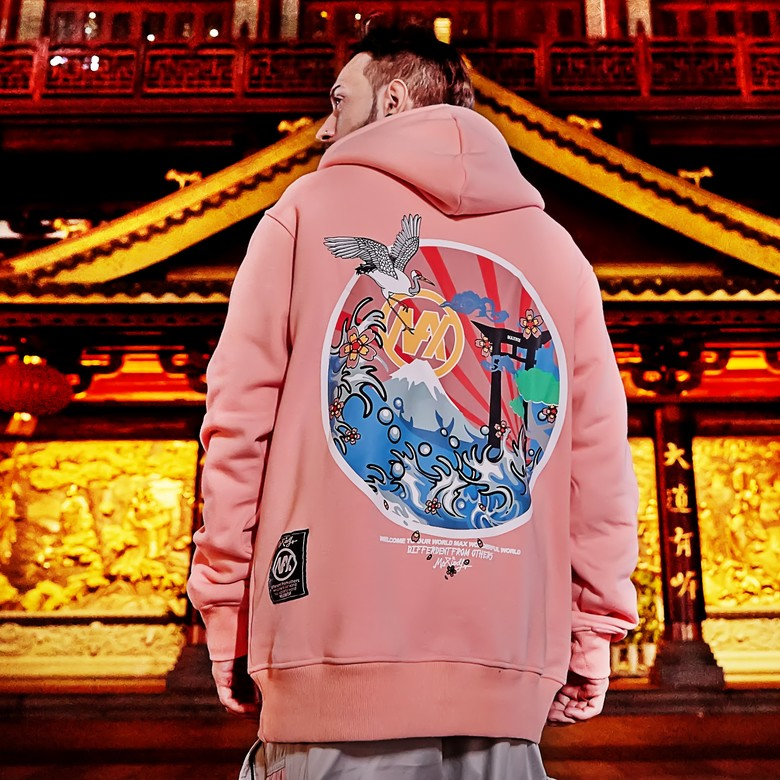 SIMWOOD Zip Up Hoodies Men Fashion Letter Print Hooded Thick 2019 autumn Winter New High Quality