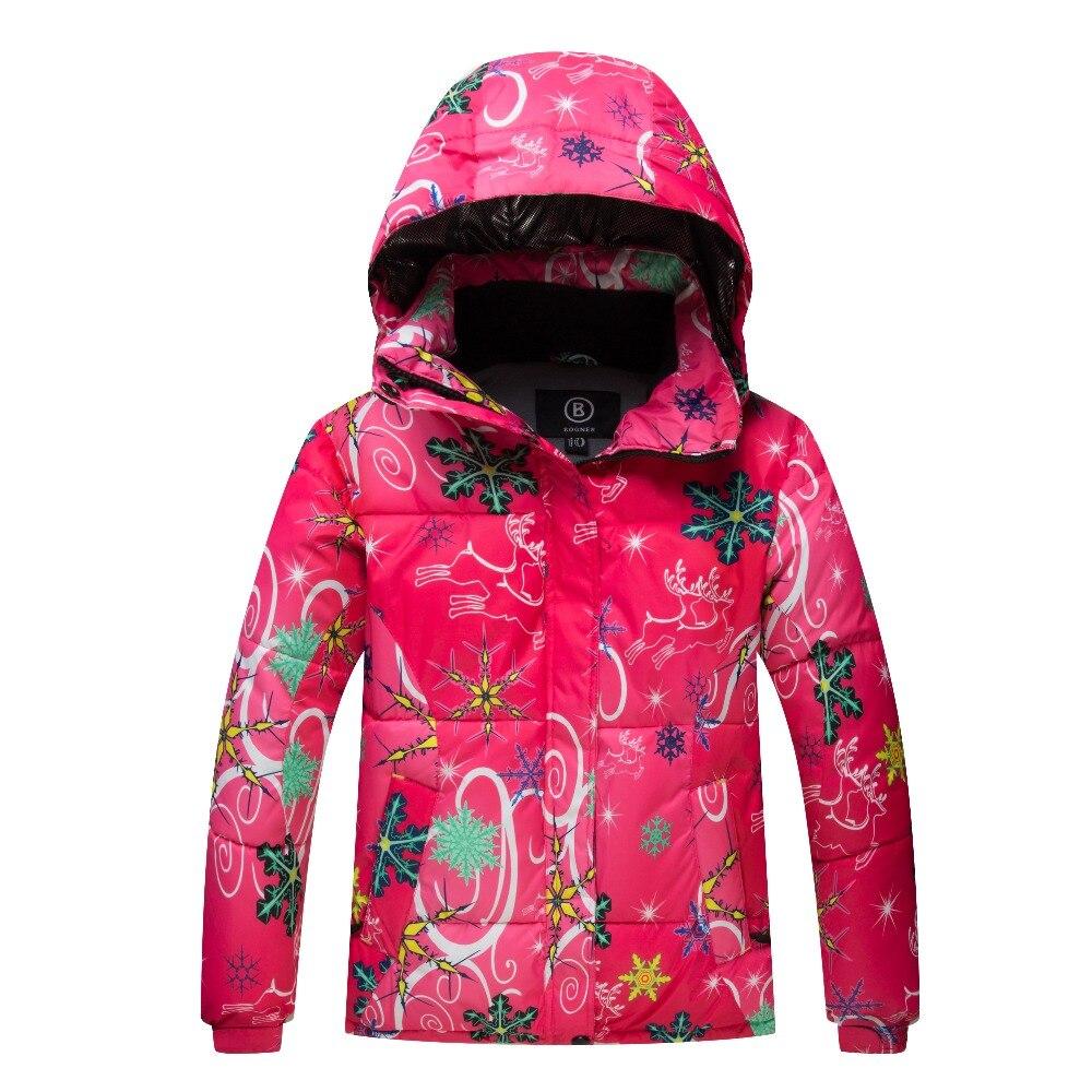 Prix pour Nouveau Haute Qualité Enfants Ski Vestes Enfants Coupe-Vent Imperméable À L'eau Coloré Vêtements Filles Garçons Snowboard Neige Manteau D'hiver Robe