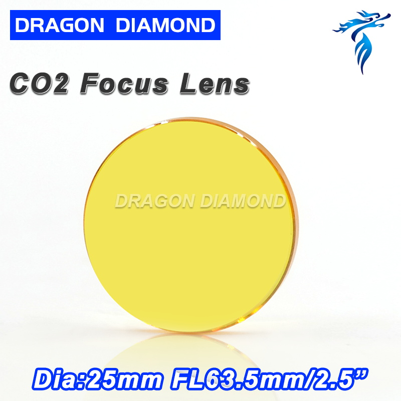 Top Quality USA ZnSe Co2 Laser Lens 25mm Dia 63.5 Focus Length For Laser Cutting Machine Free Ship laser focus lens for laser welding machine spot welder co2 laser engraving cutting machine free shipping