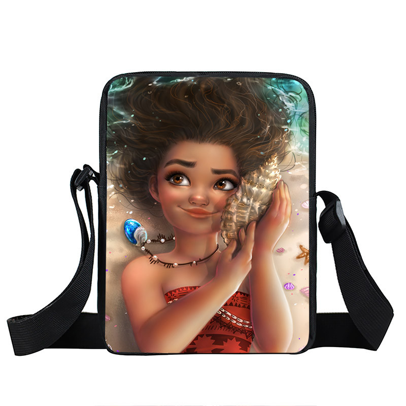 Afro Lady Girl messenger bag Africa Beauty Princess small shoulder bag brown women handbag mini totes teenager crossbody bags 7