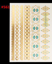 Gold Flash Metal Buds Silking Body Hair Woman Body Art Painting, Temporary Tattoo Sticker Label Products