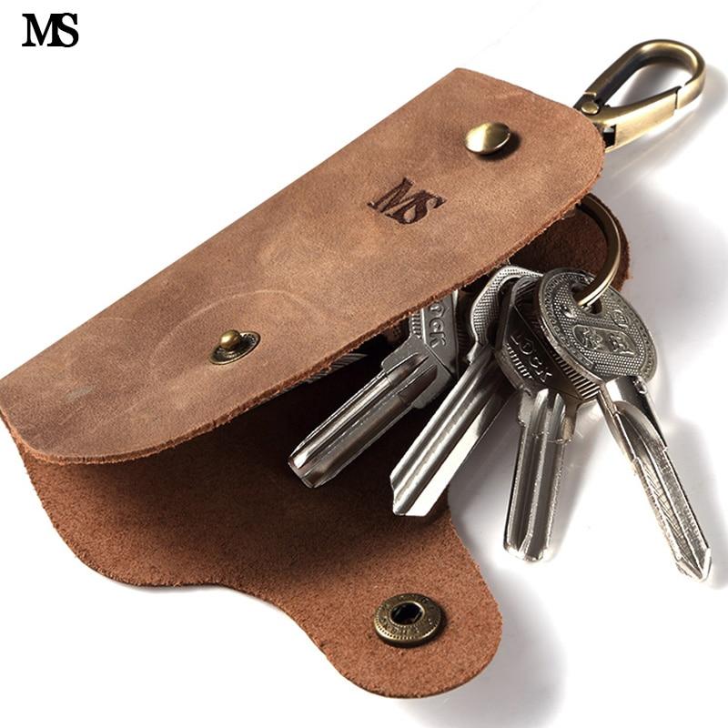 MS Trend Men Vintage Bláznivý kůň pravý kožený klíč - Peněženky
