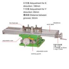 6330 хорошее качество миниатюрный Прецизионный Многофункциональный фрезерный станок скамейка сверлильный тиски Рабочий стол X ось Y регулировочный координатный стол