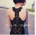 LACE BACK Tank Top Sleeveless Singlet Sexy Tee Shirt