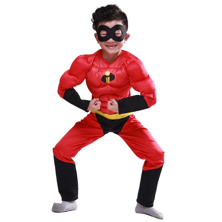 New 2019 Halloween Child Boy t shirt Classic Ultimate The Incredibles Muscle Cosplay Halloween Superhero Costume