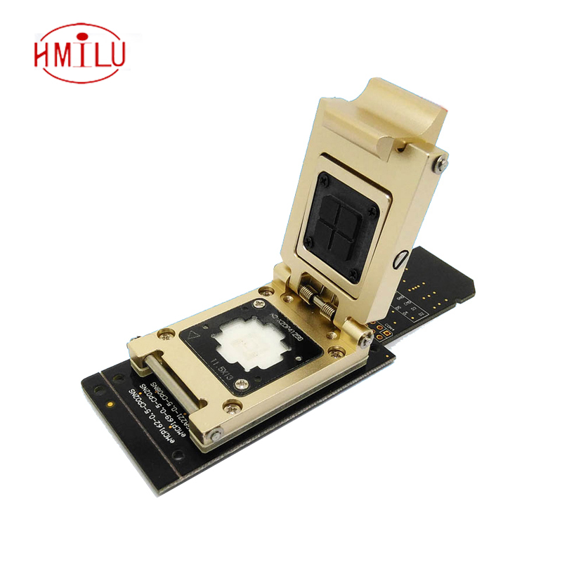 цена eMMC test socket to SD Interface Nand flash pogo pin BGA153/169 Reader Size 11.5x13mm Pitch 0.5mm smart phone date recovery