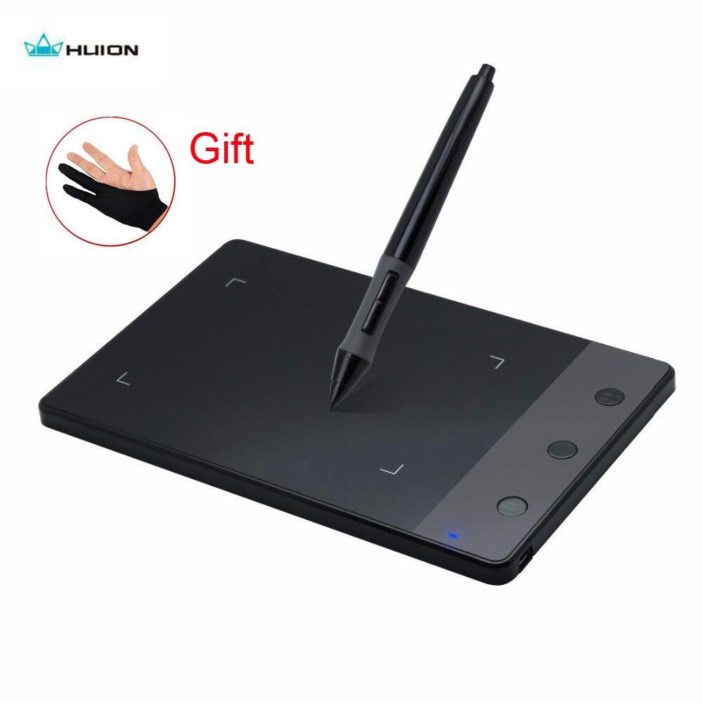 Original Huion H420 tablette de dessin graphique professionnel USB stylo numérique Signature Pad pour Windows Mac Os + batterie gant cadeau
