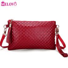 Fashion Day Clutches Women Shoulder Bag Genuine Leather Plaid Tassel Handbags Crossbody Bags with Wrist Strap Clutch Bags LZ867