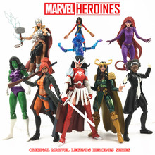 "Marvel Legends Heroínas 6 ""Action Figure Ms Marvel Phoneix Magik Medusa ELSA Monica Lady SIF Escuro Loki Thor Hulk TRU Collectible(China)"