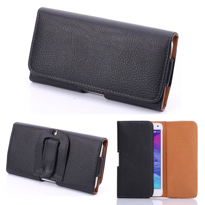 Bältesklämma svart läderfodral för iPhone 7 5S 6 6S Plus - Reservdelar och tillbehör för mobiltelefoner