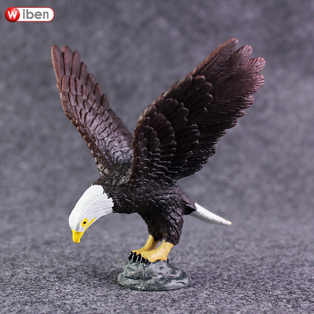 Wiben Eagle Solid PVC High Quality Simulation Animal Model Action & Toy Figures Educational for Boys Gift recur toys high quality horse model high simulation pvc toy hand painted animal action figures soft animal toy gift for kids