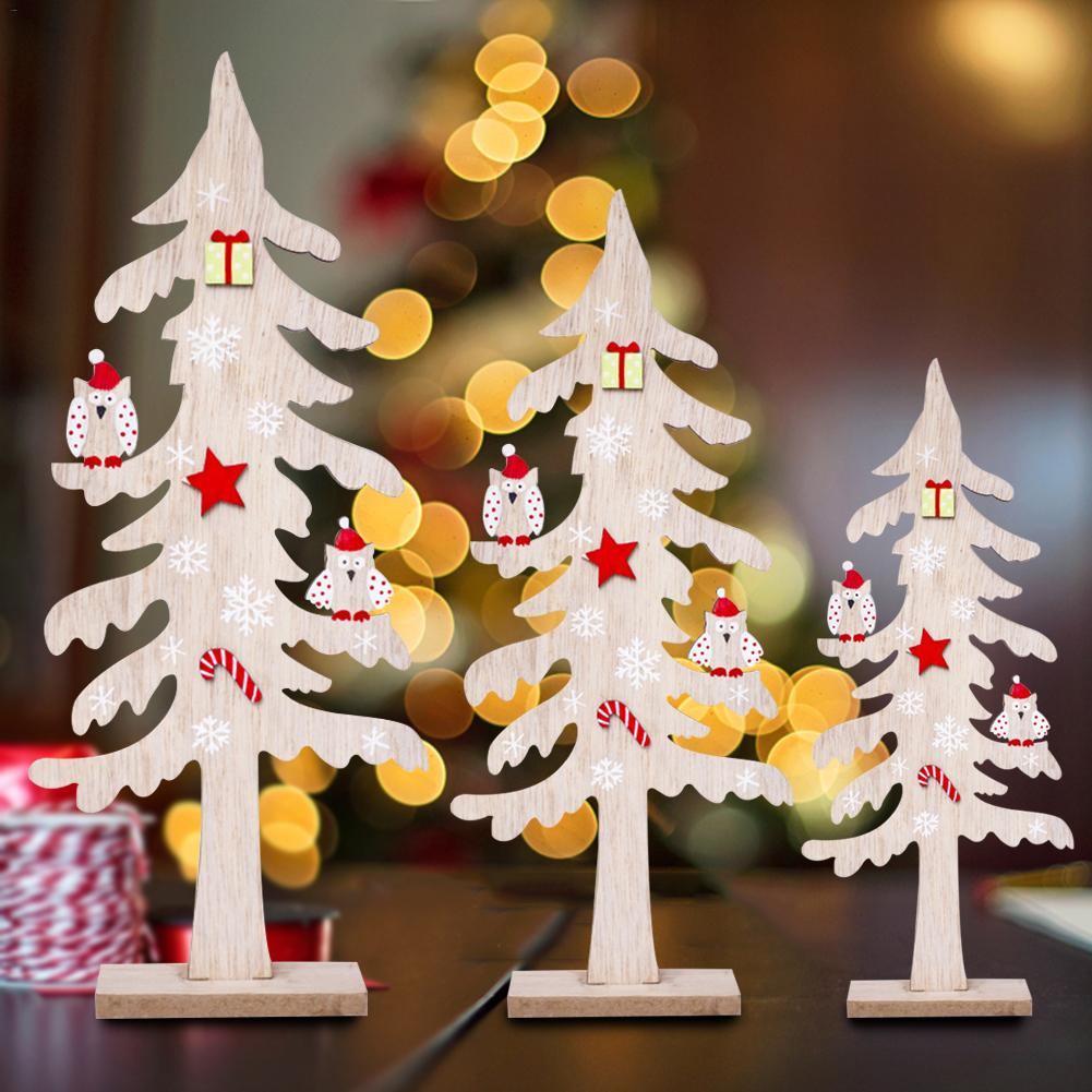 aliexpresscom buy christmas wooden creative desktop small christmas tree mini ornaments wooden block christmas decorations for home from reliable trees - Small Christmas Decorations