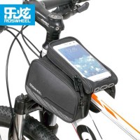 New Roswheel 5 7 Black Bicycle Front Tube Bag Mountain Bike Phone Case Bag Bicycle Bycicle