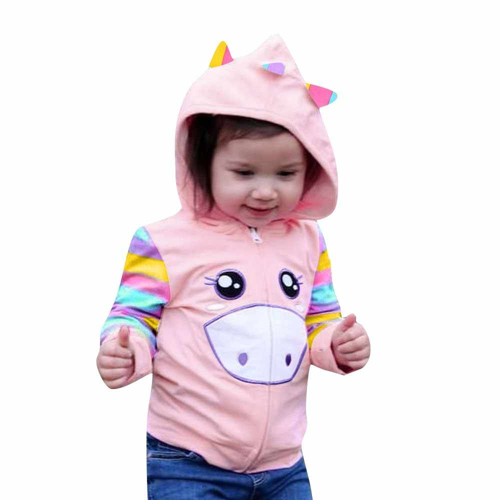 2018 Top Selling Fashion Winter Baby Girls Cotton Clothes Children Cartoon Coat Kids Wind Jacket Christmas Dress Outfits Clothes