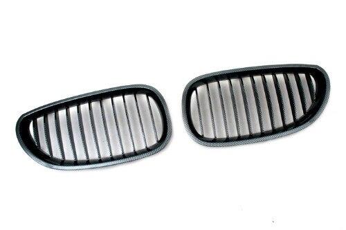 Fibre de carbone Style Sport calandre de remplacement L & R 2 pièces nouveau pour E60 5 SERIES