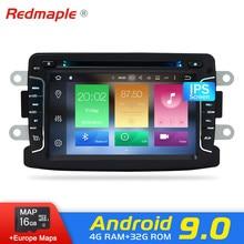 Android 9,0 автомобильный Радио dvd-плеер для Renault Duster dacdacia LADA Xray 2 Logan Авто Видео Стерео навигация Мультимедиа