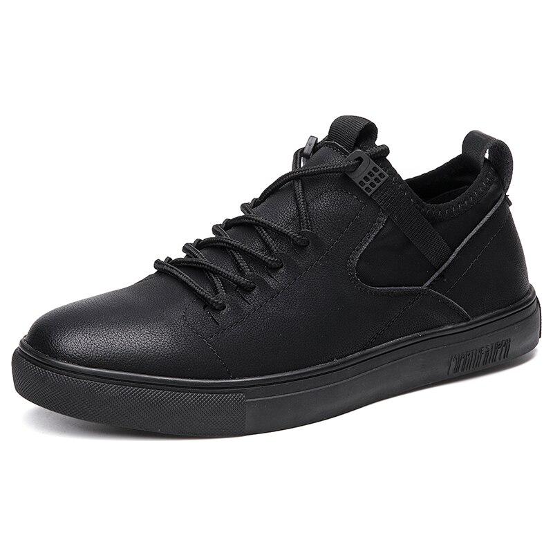 2018 Männer Der Mikrofaser Leder Schuhe Mode Lässig Leder Anti Slip Schwarz Weiche Schuhe Neue Herbst Mann Leder Schuhe