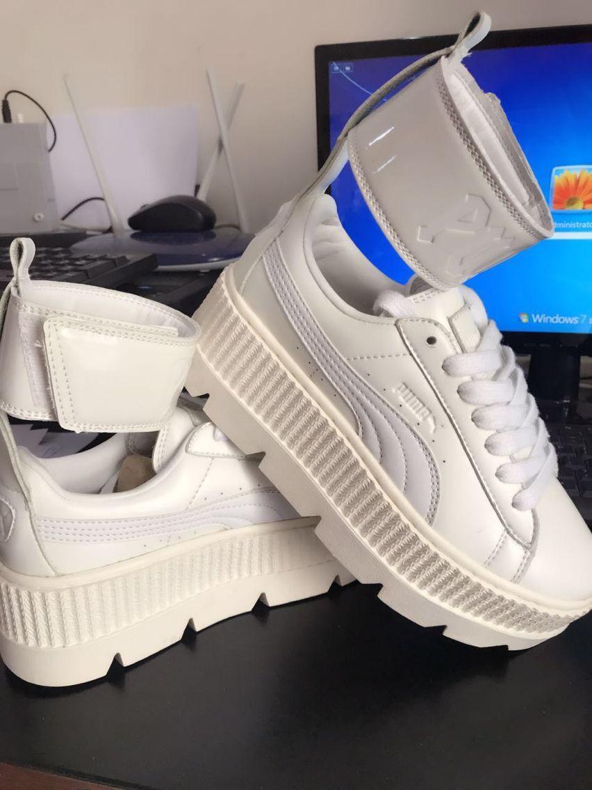 Оригинальный PUMA Для женщин FENTY x PUMA Ремешок на щиколотке кроссовки Для женщин кроссовки бадминтон обувь size36-40