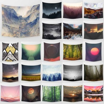 Forest tapestry beauty landscape many trees large tapestry  Wall Hanging Printed home decoration tapestry hot sale large adventure theme wall hanging tapestry home decoration wall tapestry tapiz pared 1750mm 1750mm