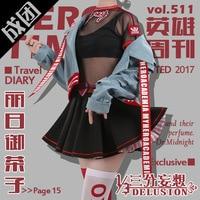 Anime Boku no MY HERO ACADEMIA figure Ochako Uraraka Cosplay Costume Magazine Fashion Daily Wear Full set For Women NEW 2018 fre