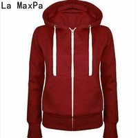 LA MAXPA HOT SELL 2017 Hoodies Sweatshirt Ladies Women Men Coat Top NEW 5 Colors Unisex