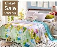 Hot sale 100% Silk comforter/quilt/Blanket/Duvet,for Spring&Summer Home King/Full/Queen double bed Size silk quilt Butterflies