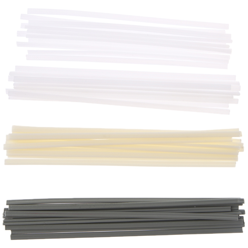 50pcs New Plastic Welding Rods ABS/PP/PVC/PE Welding Sticks For Plastic Welder lst610e plastic extrusion welder for plastic pipe pp pe membrane