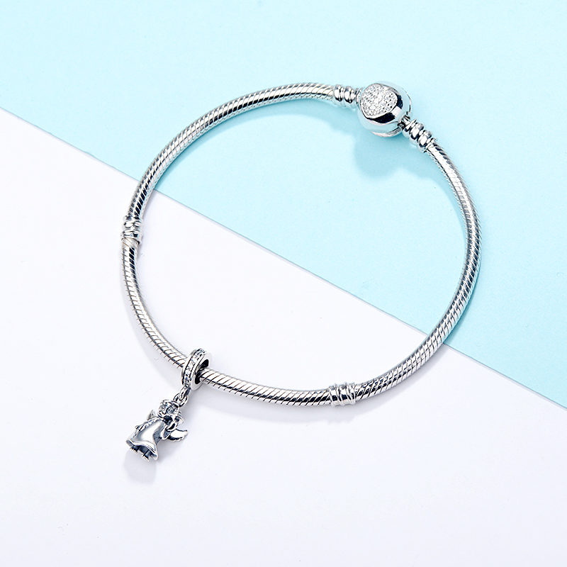 Trendy New 100 925 Sterling Silver Angel Dangle Bead Fit Original pandora Charm Bracelet diy fine Jewelry Gift free shipping in Beads from Jewelry Accessories