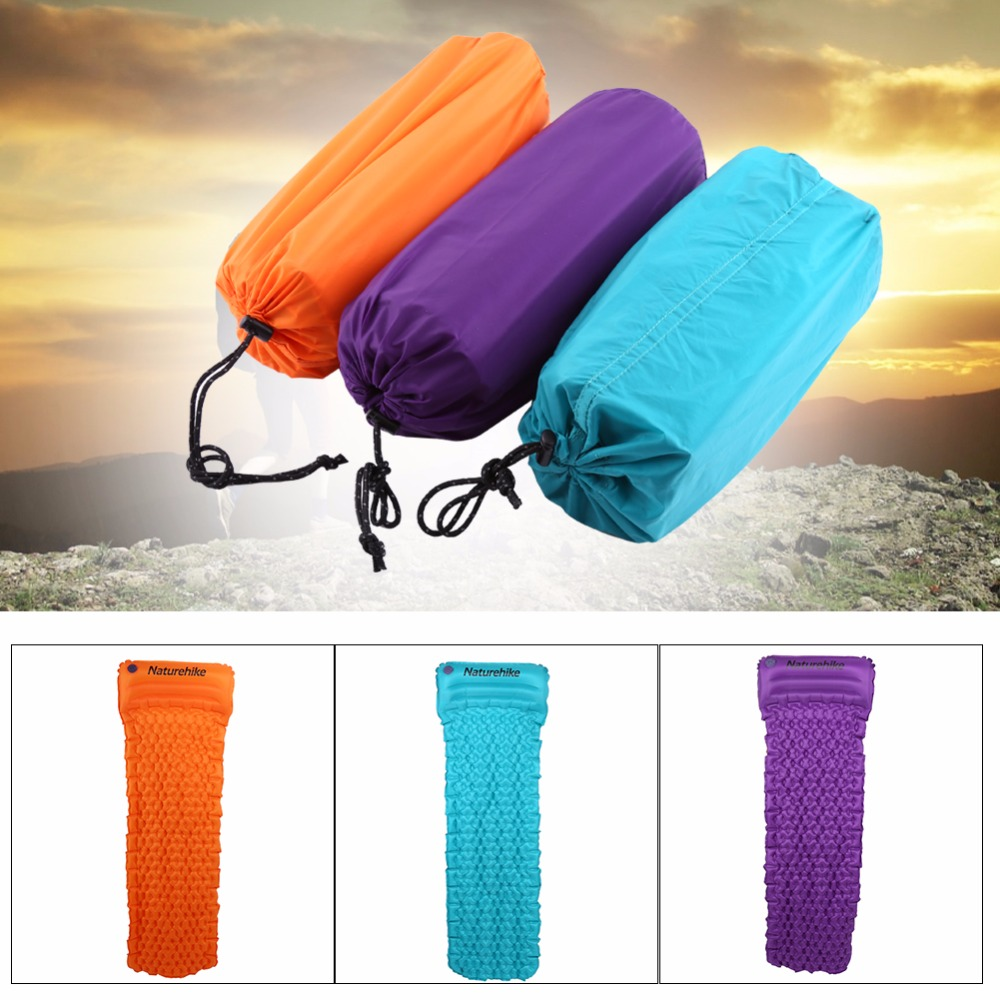 inflatable air mattress sleeping mat pad for camping mattress with pillow  egg trough structure adventure individual