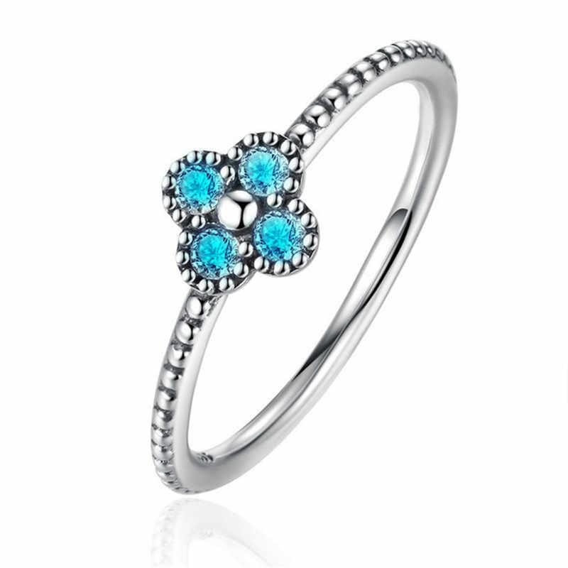 แฟชั่น Lucky Clover Lady แหวน Cubic Zirconia หมั้นแหวนแต่งงานสำหรับผู้หญิงผู้ชายขายส่งเครื่องประดับ B2091