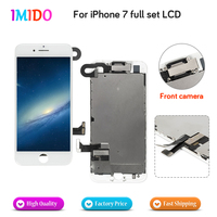 50Pcs/Lot Pantalla LCD For iPhone 7 OEM Display Full Set Complete Screen Replacement with Camera Speaker Flex Cable AAA Free DHL