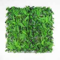 Outdoor Artificial Boxwood Plants Greenery Wall 1x1m UV Proof Diy Vertical Garden Wall Backdrop Balcony Yard Store Decoration