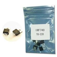 5 pçs/lote IRF740 n-channel de efeito de campo tubo IRF740 10A/400 V/0.55 ohm/125 W TO-220