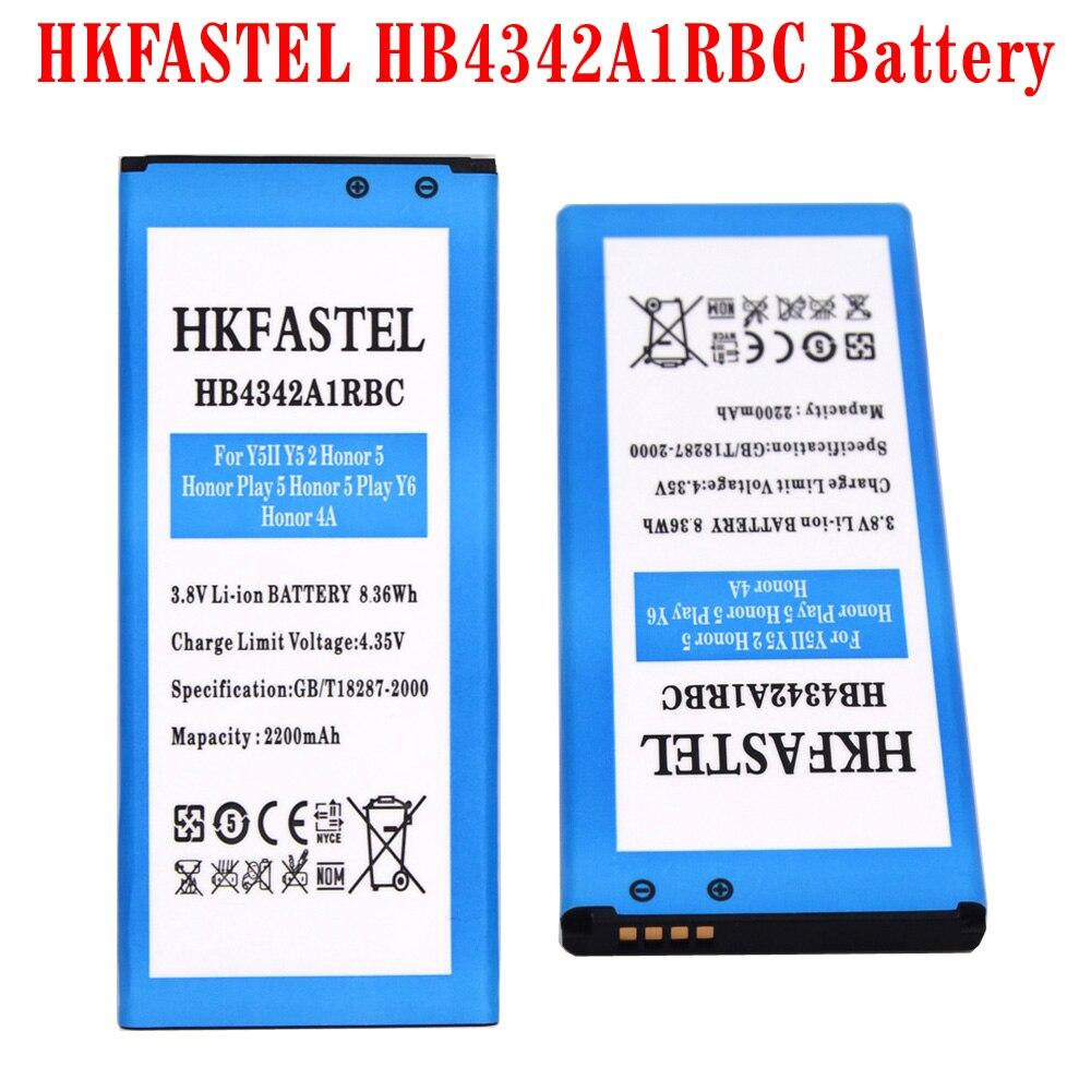 Hkfastel Новый <font><b>hb4342a1rbc</b></font> оригинальный аккумулятор мобильного телефона для Huawei y5ii Y5 II 2 Ascend 5 + Honor 5 играть y6 honor 4A <font><b>batterie</b></font>