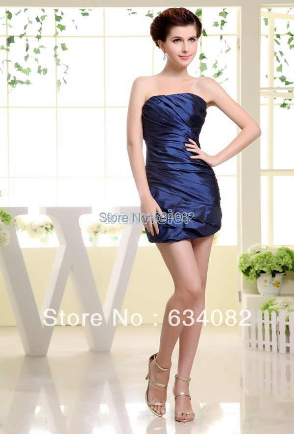 Yes 2016 Real Scoop Cheap Royal Blues free Shipping Best Selling Tube Ladies Fairy Tale Formal Taffeta Sheath Bridesmaid Dresses