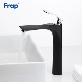 Frap black basin Faucets mixer hot and cold water sink faucet bathroom tap waterfall single handle faucets torneira Y10094