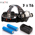 12000LM LED Headlamp 3x CREE XML T6 4 Modes Rechargeable Headlight Head Lamp Spotlight For Hunting+Charger+Battery