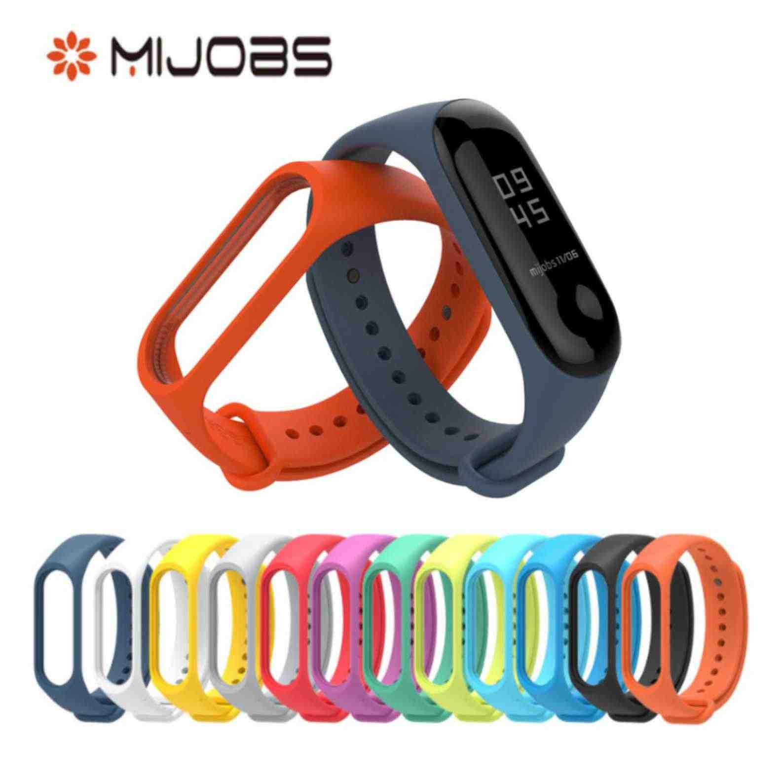 Mijobs Belt Strap Replacement For Xiaomi Mi Band 3 Smart Band Accessories For Xiaomi Miband 3 Smart Wristband Strap in Stock