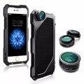 3in1 0.63X 15X Lente Macro Lente Grande Angular + Fisheye 198 Graus kit de lentes da câmera do telefone móvel para o iphone 7 caso shell houing