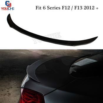 V Style Trunk Wing For BMW 6 Series F12 F13 2012 + 2-door Coupe / Cabriolet 640i 650i M6 Carbon Fiber Rear Spoiler