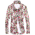 camisa floral masculina mens floral shirts 2015 Hot  long sleeve  Mens Shirts Men's dress Shirts Men's Casual Fit Free Shipping