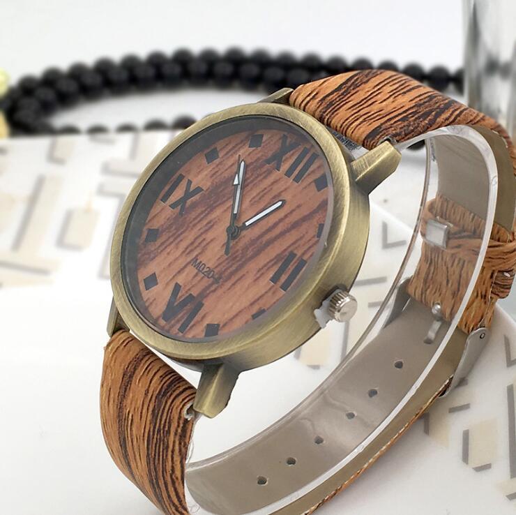Symulacja Drewniane zegarki kwarcowe Reloje Męskie Zegarki na co - Męskie zegarki - Zdjęcie 2