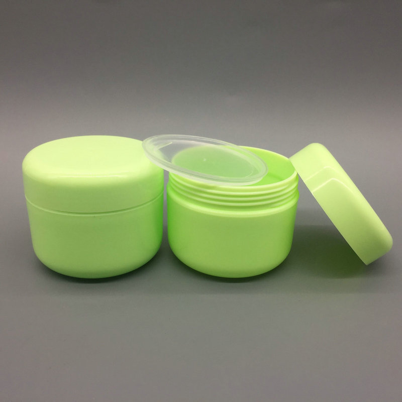 9f8ea9458dc4 FreeShip 10pcs 50ml 50g PP plastic white colored face cream jars, small  empty cosmetic powder containers, cosmetic sample pots