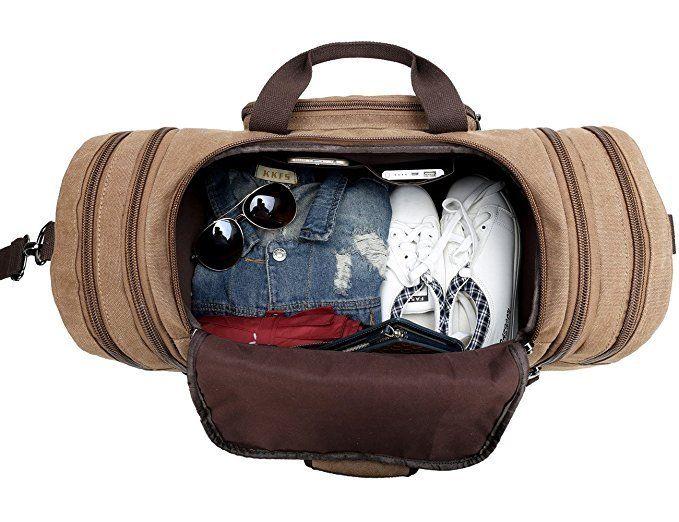 Aliexpress.com   Buy Canvas Bag Duffle Tote Bag Weekend Bag Men Travel  Handbag Vintage Luggage Bag from Reliable weekend bag suppliers on Bagail  Store dcb029c175836