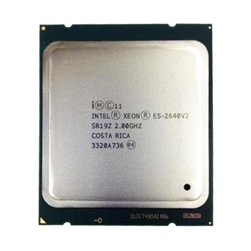 Processeur Intel Xeon d'origine E5 2640 V2/2.0 GHz 8-Core 20 M LGA2011 serveur CPU de bureau