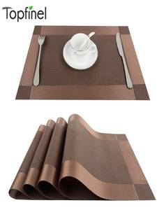 Decorative Runner Coaster-Pad Place-Mat Linen Kitchen-Accessories Dining-Table 4pcs/Lot